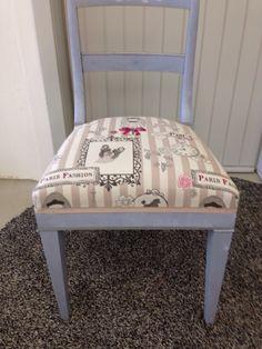 Shabby chic Sitzfläche würde neu gepolstert und bezogen