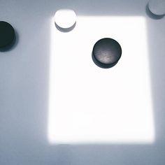 serendipitous sunlight = geometry.  . . #circle #square #geometry #muuto #blackandwhite #monochrome #sunlight #light #home #styling #interior #design #homedecor #interiordesign #inspiration #minimal #friday #feelings #simple #minimalism #bibelotandtoken #toronto #weekend #mood