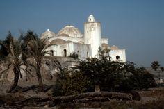 The 16th century Jami' Mustafa Pasha is one of more than 85 mosques in Zabid, Yemen. Photo: Peggy Crawford, 1986
