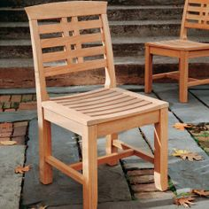 Dinning Tables And Chairs, Rustic End Tables, Wooden Dining Chairs, Outdoor Dining Chairs, Natural Wood Furniture, Teak Outdoor Furniture, Rustic Furniture, Wooden Chair Plans, Wooden Sofa