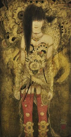 Masaaki Sasamoto lives and works in Yamanashi Prefecture, on the island of Honshu, Japan. The artworks of Masaaki Sasamoto are exhibited at Art Prefectural Gallery of Yamanashi Museum. Art Pictures, Art Images, Japanese Contemporary Art, Pop Art, Beautiful Fantasy Art, Yamanashi, Antique Illustration, Japanese Painting, Art Moderne