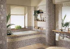 bathroom designs,bathroom floor, mosaic tile,beige bathroom,luxury bathroom, traditional bathroom, beautiful bathroom,bathroom flowers, brown bathroom