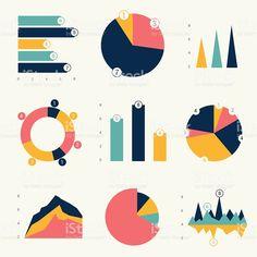 Charts And Graphs Flat Design, Graph Design, Vector Design, Layout Design, Scientific Poster Design, Modele Flyer, Desgin, Powerpoint Design Templates, Charts And Graphs