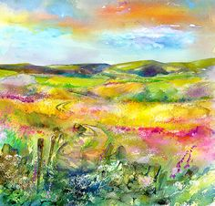A Perfect View - Peak District Derbyshire- Watercolour Painting www.sheilagill.co.uk/