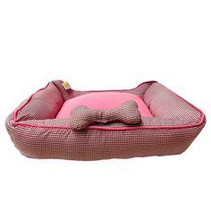 Cama Rubi Tec. Algodão Rosa São Pet - MeuAmigoPet.com.br #petshop #cachorro #cão #meuamigopet
