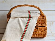 Cotton linen tea towel Torchon Metis French country 2 by ikabags,