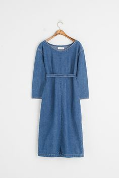 Big Pocket Detail Dress, Dark Blue