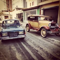 My 1969 Volkswagen 1600 Type 3 and My wife's 1929 Ford Model A