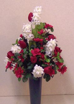 Artificial flower arrangements for graves artificial silk flower for delivery to the cemetery a beautiful silk flower arrangement in a vase for display at the gravesite mightylinksfo Choice Image