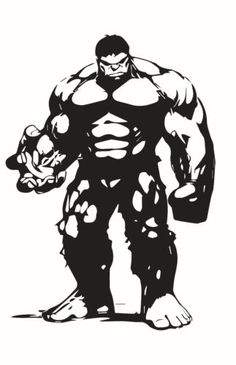 Hulk Die Cut Vinyl Decal for Windows, Vehicle Windows, Vehicle Body Surfaces or just about any surface that is smooth and clean Hulk Marvel, Captain Marvel, Stencil Art, Stencils, Art Diy, Marken Logo, Silhouette Art, Incredible Hulk, Pyrography