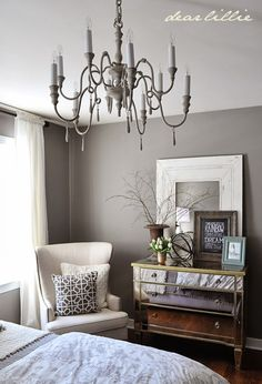 Our Gray Guest Bedroom and a Full Source List by Dear Lillie  I like the simplicity and serenity feel of this space