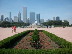 bf-18 Buckingham Fountain, Dolores Park, Sidewalk, Travel, Viajes, Side Walkway, Walkway, Destinations, Traveling