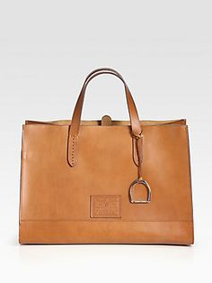 Ralph Lauren Collection RL Equestrian Large Tote @ Saks $1650 15x11x8