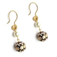 B/W Enamel earrings