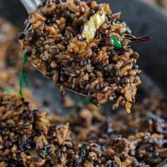 Mujadara Recipe The Mediterranean Dish. This simple lentils and rice recipe garnished with crispy onions is a signature Middle Eastern Dish that makes for a healthy flavor-packed feast. Check out the easy step-by-step photo instructi Lebanese Recipes, Indian Food Recipes, Vegan Recipes, Cooking Recipes, Lebanese Cuisine, Easy Recipes, Easy Meals, Vegetarian Sandwich Recipes, Israeli Recipes