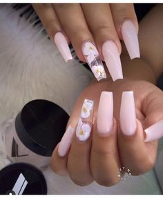 In look for some nail designs and ideas for your nails? Here's our list of must-try coffin acrylic nails for trendy women. Summer Acrylic Nails, Best Acrylic Nails, Baby Pink Nails Acrylic, Cute Acrylic Nail Designs, Summer Nails, Perfect Nails, Gorgeous Nails, Aycrlic Nails, Coffin Nails