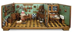 A Matter of Circumstance: 198 Early Furnished Kitchen with Original Painted Furnishings from Legoland Museum