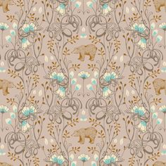 Brush Beat Taupe  - TIMBER & LEAF  designer - sarah watts for Blend Fabrics