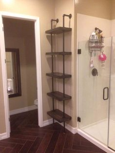 PVC Pipe Made Wall Racks For DIY Storage *** smaller version to go above toilet ***