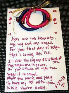 Back to school #bracelets very cool idea! Daughter wears one & mom wears the other. #backtoschool