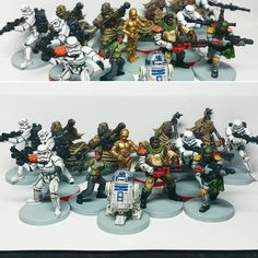 Imperial Assault, Twin Shadows Expansion wave completed. : minipainting