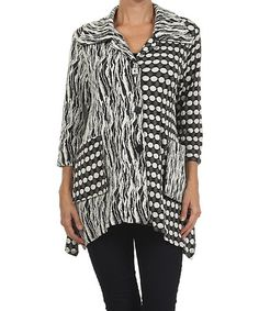Look at this #zulilyfind! Gray & White Dot Wave Jacket by Come N See #zulilyfinds