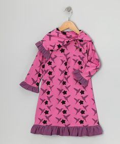 Take a look at this Pink Hummingbird Organic Dress - Infant, Toddler & Girls by violet + moss Girls on #zulily today!