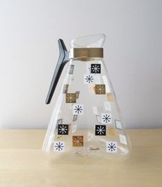 atomic snowflake glass coffee carafe