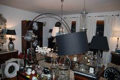Lampa na giętym łuku