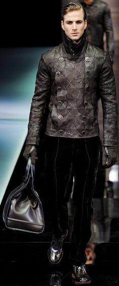 Giorgio Armani men's leather jacket.