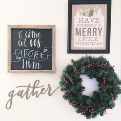 When you have chalkboards that you rent to brides that won't be used until Spring, you take advantage of them and use them for your home!