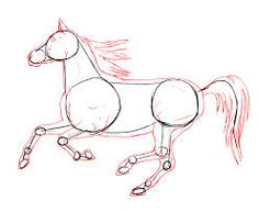 how to draw a easy horse for kids