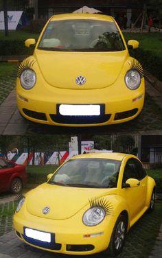 Cool Car False Eyelashes for Car Lamp