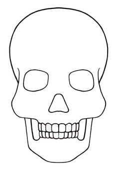 Skull Template mini - Day of the dead - Mexico: