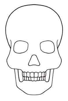 Skull Template mini - Day of the dead - Mexico: