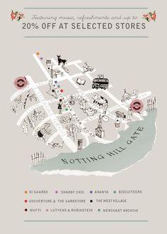 cute illustrative map