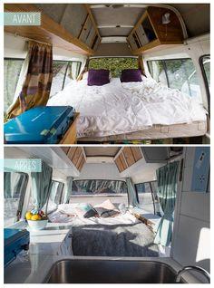 Detours Magazine. Avant/Après. Campervan. Van.
