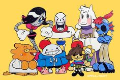 """Serena Ci. on Twitter: """"Undertale turned 5 years old last week and I didn't draw anything. Shame on me 😔 #undertale #doodle… """" Pretty Art, Cute Art, Character Art, Character Design, Cool Sketches, Cultura Pop, Cute Illustration, Cartoon Art, Cute Drawings"""