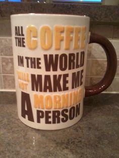 My gigantic coffee mug I bought at Cracker Barrel