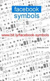 FB Symbols ***** Cut and Past Fabebook Symboks