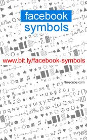 *´¨)  ¸.•´¸.•*´¨) ¸.•*¨)  (¸.•´ (¸.•` ¤ Fancy stuff for Facebook statuses. Cut and paste symbols.