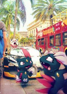 Wild Sneasel on LA street by Ninja-Jamal