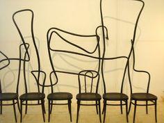 Tengbom & Gemla at 'Swedish love stories' @ Salone del Mobile 2011 Chair Design, Furniture Design, Design Elements, Modern Design, Funny Furniture, Interior Wallpaper, Wallpaper Magazine, Take A Seat, Kitchen Styling