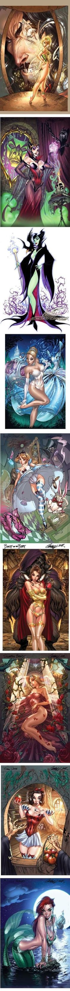 J. Scott Campbell Draws Naughty Disney Princesses by AislingH