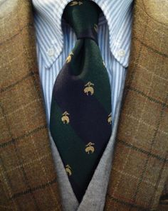 A good old Brooks Brothers tie.