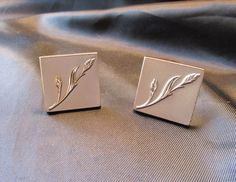 Swank Gold Tone Wheat Stalk Cuff Links by DresdenCreations on Etsy, $23.00