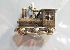 C-118; A Sweet Little Old Fashioned Train Engine in Dark Antiqued Silver Colored Metal- Well Made Gold Glass, Black Glass, Antique Metal, Antique Silver, Train Engines, Upcycled Crafts, Little Christmas, Craft Items, Candle Sconces