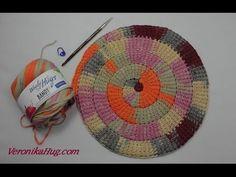 Tunisian Crochet learn in a circle