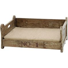 Love this weathered pet bed