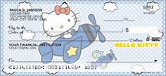 Since 1974, Hello Kitty® has been a pop icon for all ages. The design features Hello Kitty® in different poses with a polka dotted background. Complete this graceful design with matching labels, checkbook cover or Bonus Buy today!